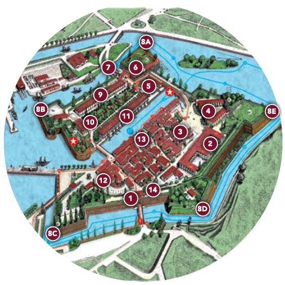 Peschiera Tour map