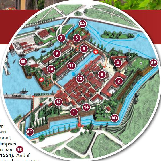 Mappa itinerario di visita